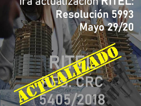 1ra actualización RITEL: Resolución 5993 de mayo 29/2020