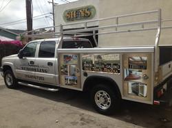 Custom work truck wrap