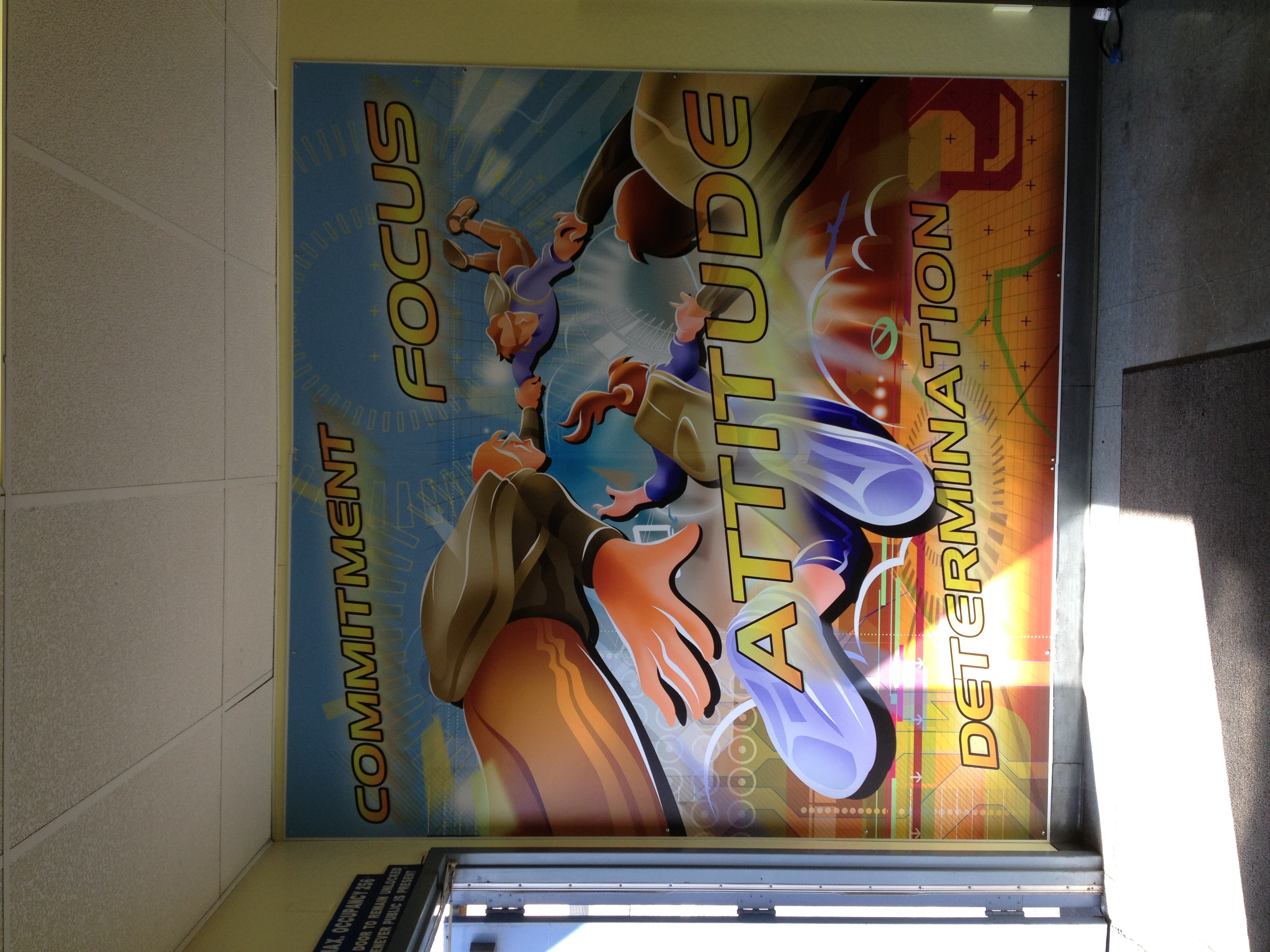 Custom School wall graphics
