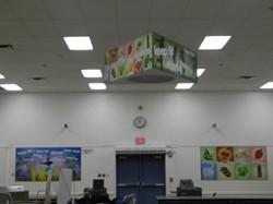 custom ceiling sign