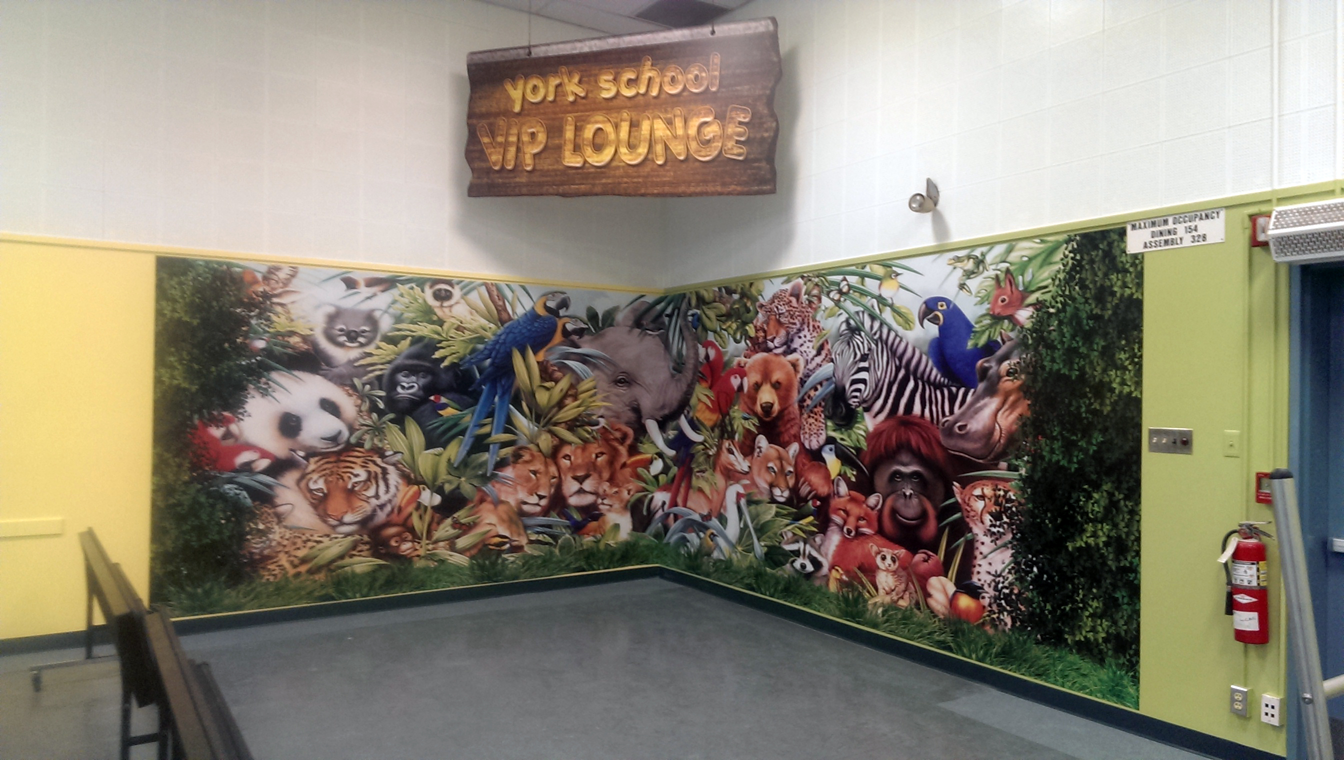 Custom school wall graphics and sign