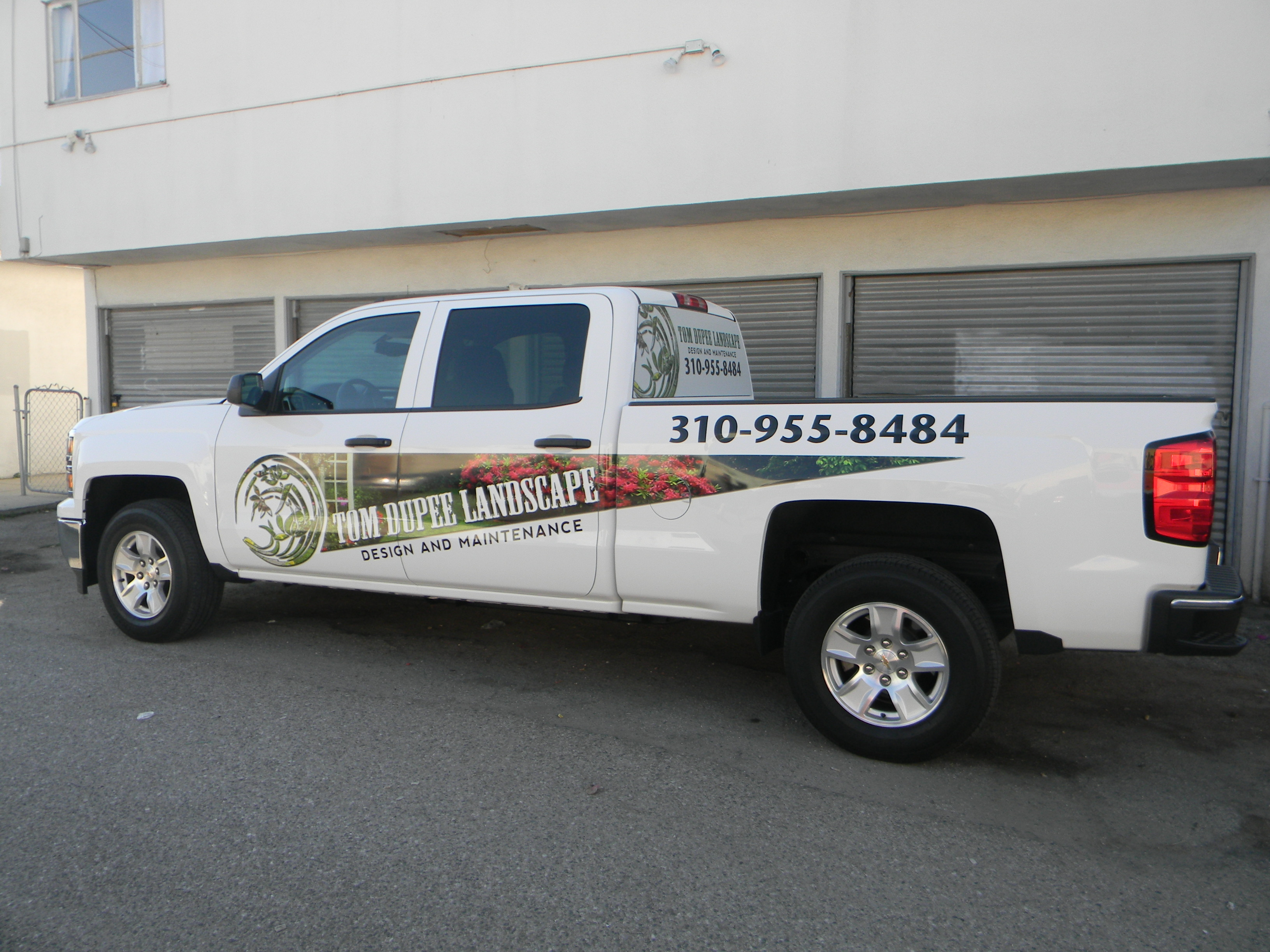 Custom work truck wrap