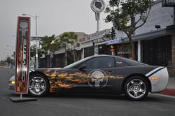Custom corvette wrap