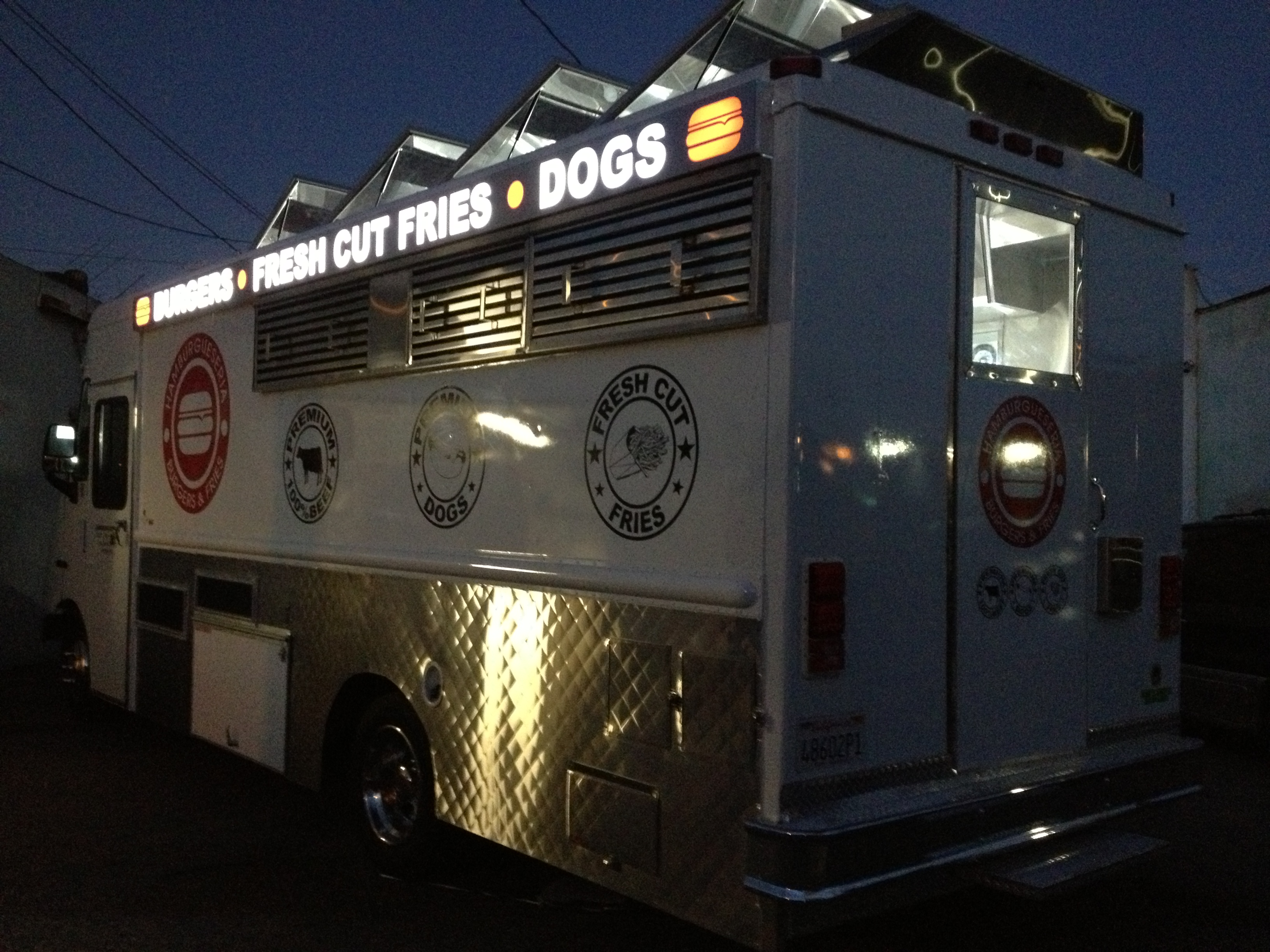 Custom food truck and  light box