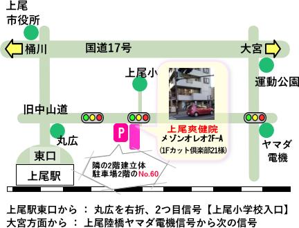 上尾爽健院地図