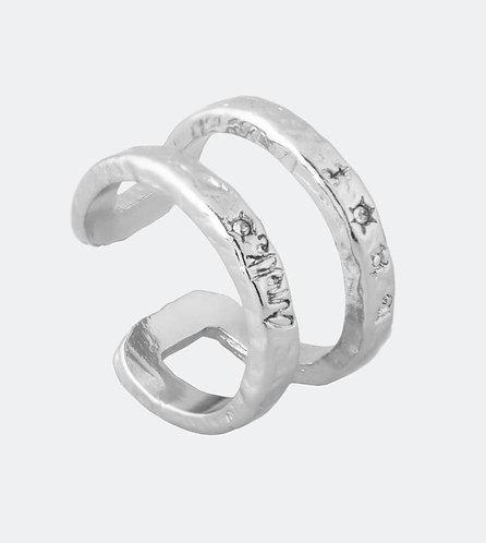 бижутерия anekke кольцо серебряное двойное украшения фото 1