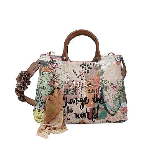Оригинальная сумка с пластиковыми ручками Anekke Jungle