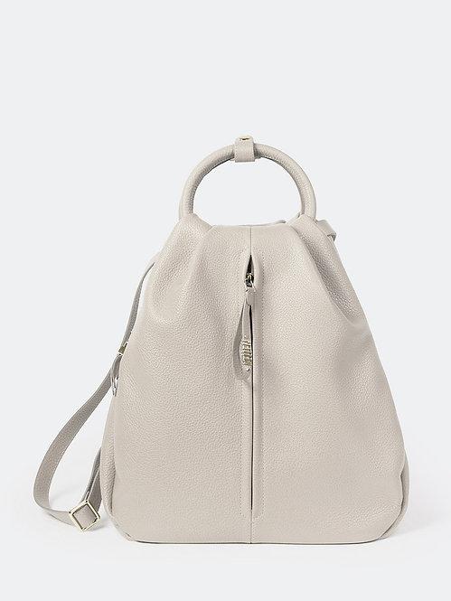 Рюкзак-капля из мягкой серо-бежевой кожи KELLEN