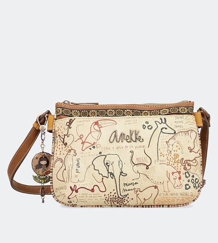 сумка anekke kenya safari c двумя отделениями 32722-03-106