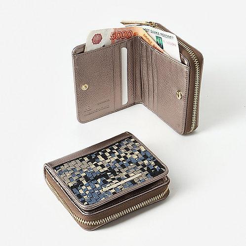 Небольшой кошелек c плетеными элементами Alessandro Beato
