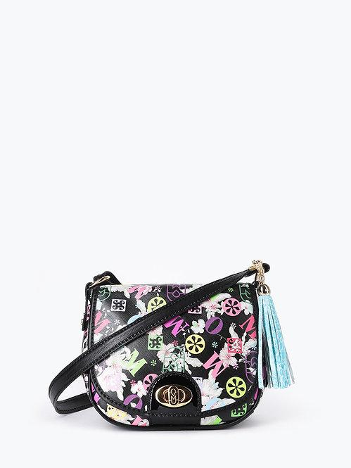Полукруглая сумочка кросс-боди с цветочным тиснением Marino Orlandi