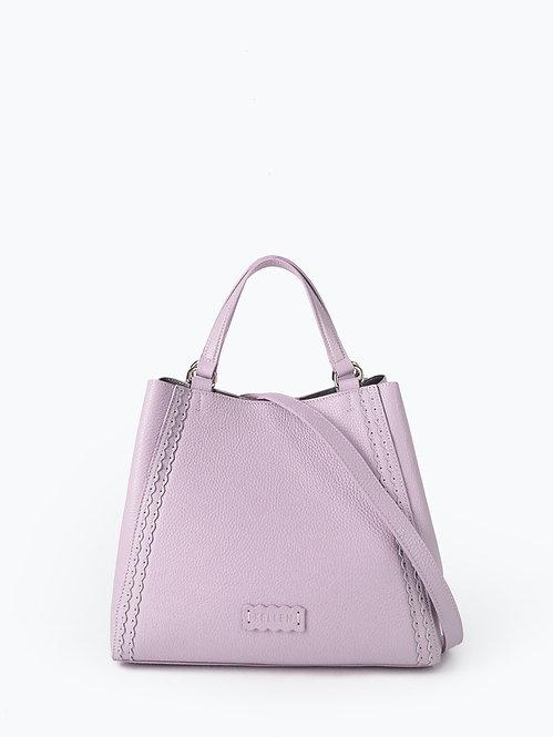 Пастельно-розовый шоппер-трансформер из мягкой кожи KELLEN