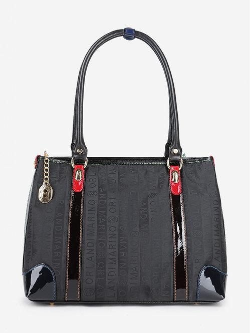 Черная текстильная сумка-тоут на плечо Marino Orlandi