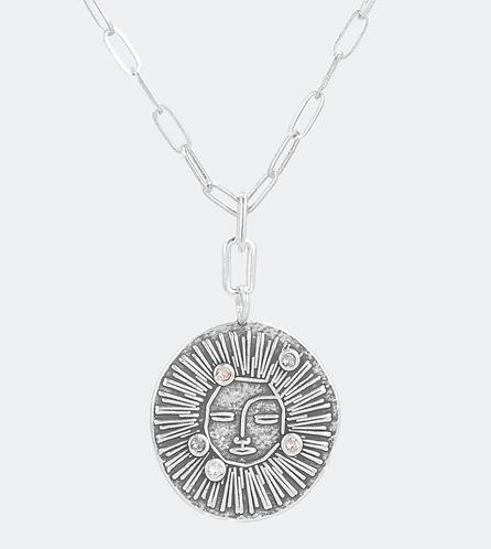 бижутерия  anekke солнце серебряное украшение  кристалл подвеска фото1