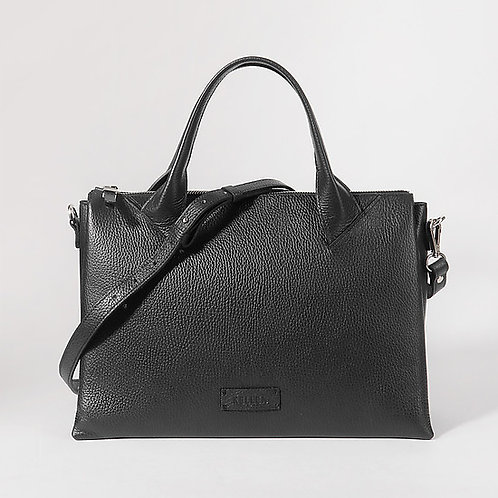 Черная деловая сумка из мягкой кожи KELLEN