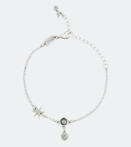 бижутерия anekke браслет серебряный со звездой кристаллом фото1