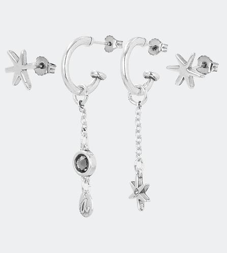 комплект сережек бижутерия anekke серебро звезды 31702-26-305SIL фото1