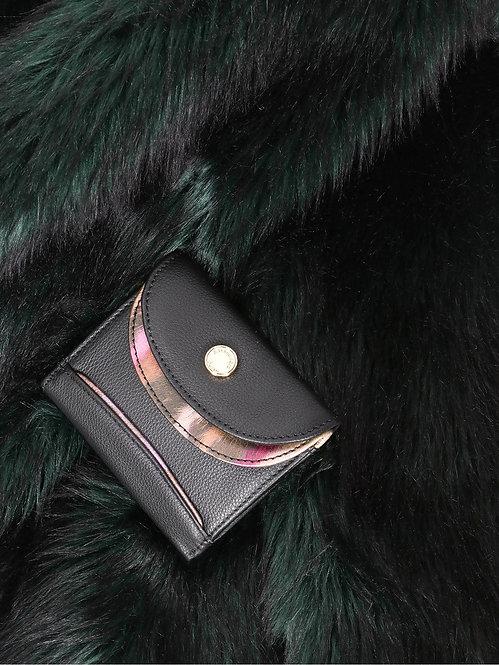 Маленький кошелек из черной кожи Alessandro Beato