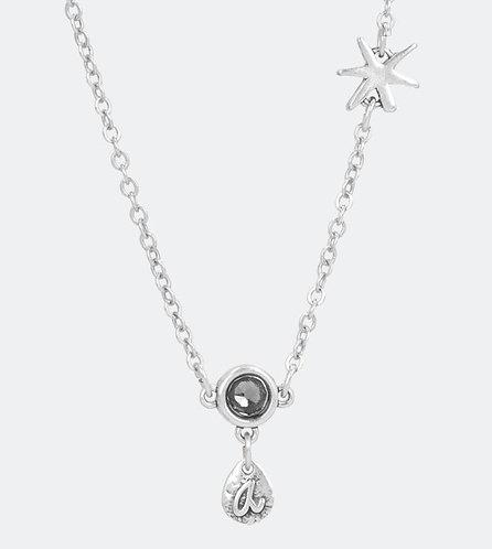 бижутерия anekke подвеска серебряная капля звезда кристалл 31702-26-005SIL фото1