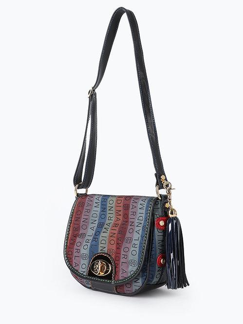 Разноцветная текстильная сумочка флап кросс-боди Marino Orlandi