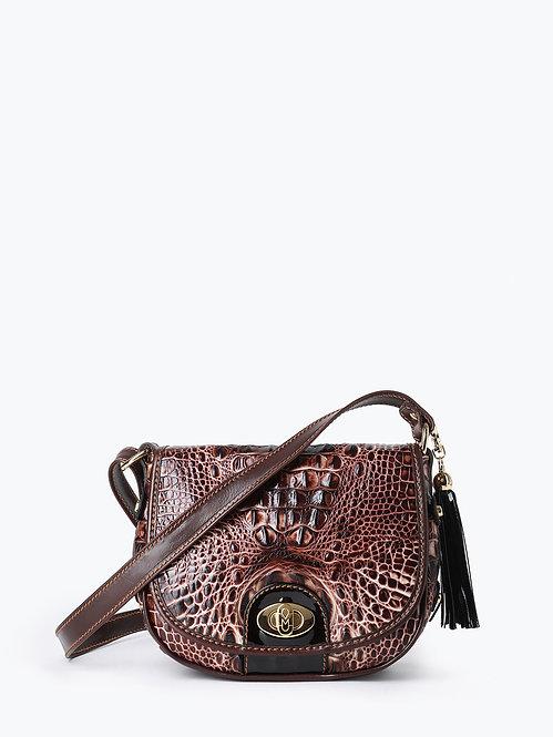 Полукруглая сумочка кросс-боди из кожи под крокодила Marino Orlandi