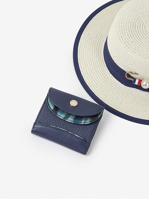 Маленький кошелек из синей кожи Alessandro Beato