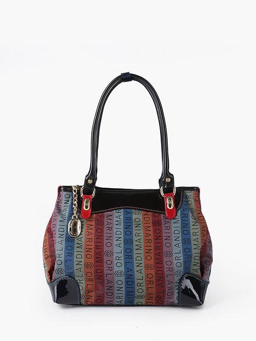 Разноцветная текстильная сумка-тоут с ручками на плечо Marino Orlandi