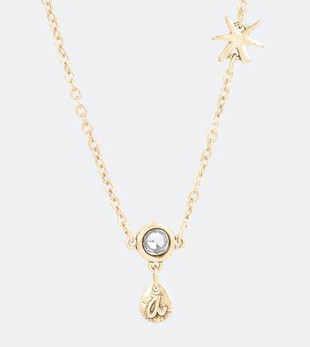 бижутерия anekke испания золотой кулон капля звезда кристалл 31702-26-005GOL фото1