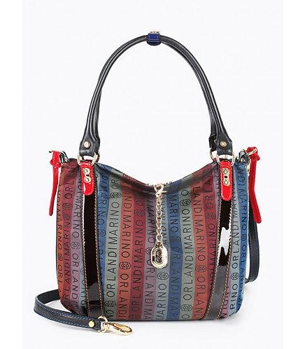 Разноцветная сумка на плечо из брендового текстиля Marino Orlandi