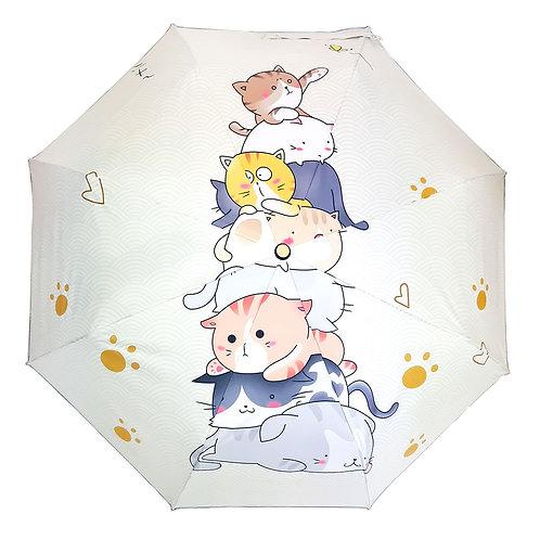 "Зонт со светоотражающим кантом ""Пирамида с котами"""