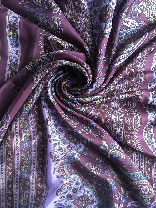 Платок шелковый фиолетовый