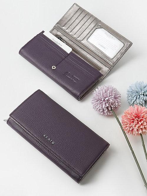 Бумажник  из фиолетовой и серебристой кожи Alessandro Beato