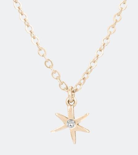 бижутерия anekke кулон подвеска звезда золотая кристалл 31702-26-006GOL фото1