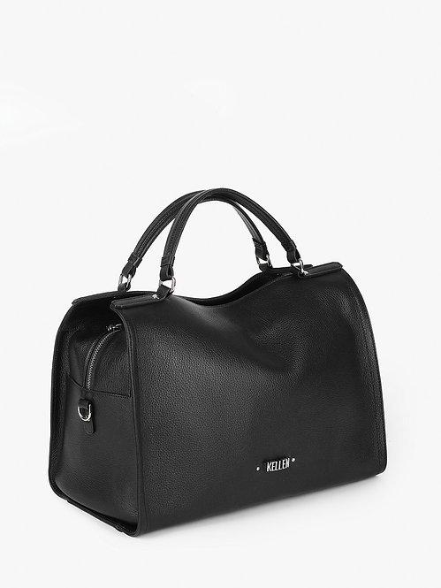 Черная сумка-тоут из мягкой кожи KELLEN