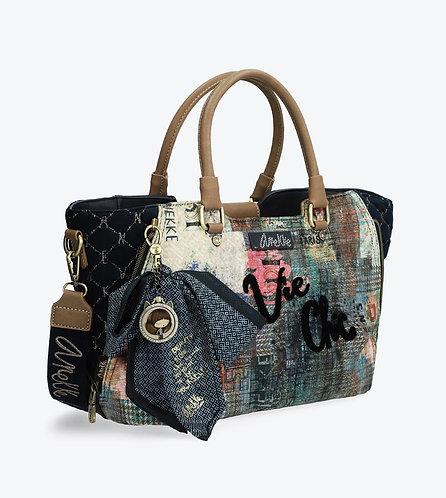 Вместительная бархатная сумка Anekke Couture