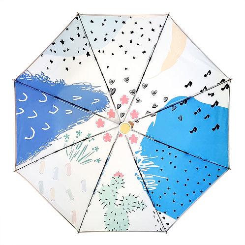 "Зонт со светоотражающим кантом ""Кактус"""