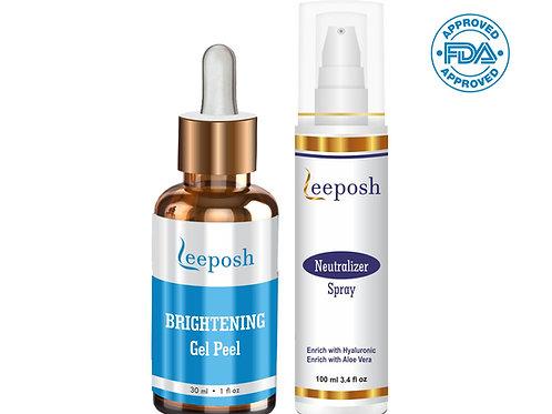 Leeposh Brightening Peel Glutathione Peel Skin Whitening Brightening Glow