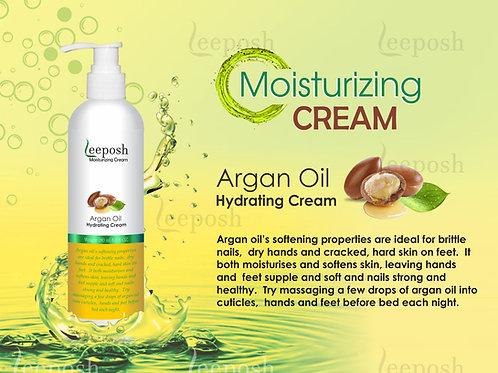 Leeposh Argan Oil Moisturizer with Hyaluronic Acid
