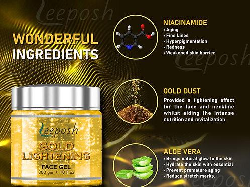 24 Caret Gold Gel With Niacinamide Aloe vera Remove instant Tan & Lighten skin
