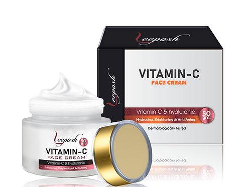 Leeposh Vitamin C Face Cream - Oil Free, Quick Absorbing - For All Skin Types