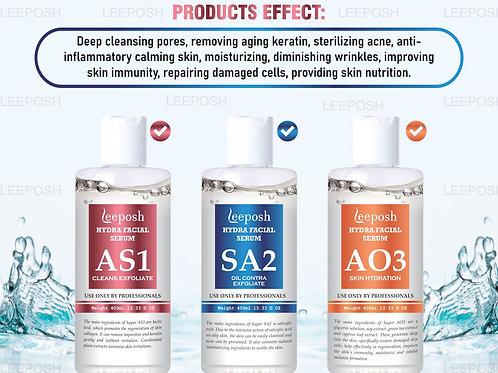 AS1 / SA2 / AO3 Hydra Facial solution AHA BHA Hydrafacial Solution 1500 ml