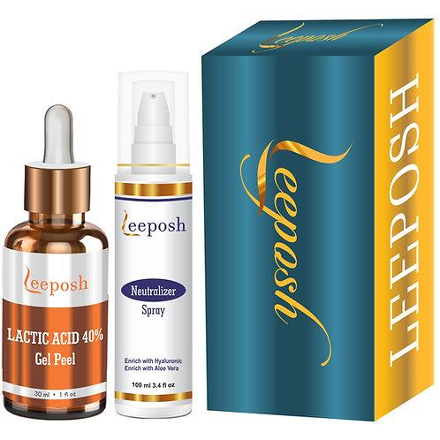 Lactic Acid Peel 40% Acne Scars, Wrinkles, Dry Skin, Age Spots,Uneven Skin Tone