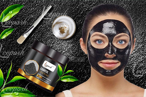 Activated Charcoal Clay Mask Detoxifying,Whitening Clarifying Acne & Oil Reduces