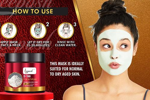 D-Tan Face Mask with Vitamin C Lemon Peel, Niacinamide Remove Tan Pigmentation