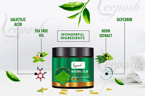 Salicylic Acid 2% Tea Tree Acne Face Mask Reduce Acne Scars,Oil, Pore, Blackhead