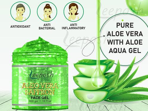 Leeposh Aloe Vera Gel Saffron Gel Anti ageing | Intense Hydration for Skin