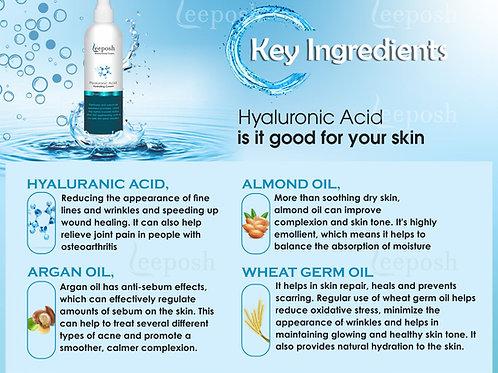 LEEPOSH Hyaluronic Acid Moisturizer Intense Hydrating Anti ageing HA Cream