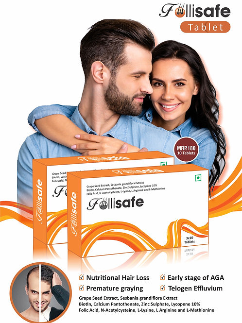 Follisafe Tablet Biotin tablet Hair Regrowth Medicine