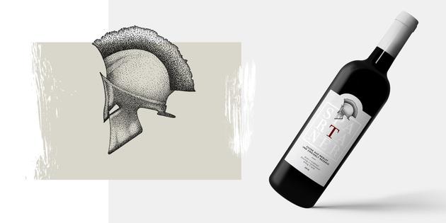 Etikett Wein Spartaner