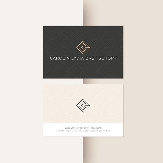 Logo und Visitenkarten Carolin Lydia Breitschopf
